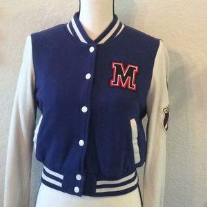 Forever 21 Varsity Jacket -Royal Blue and White